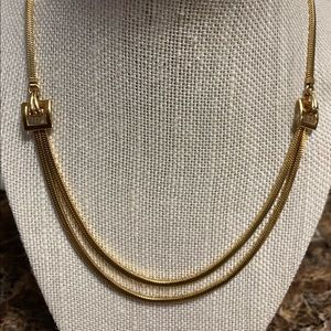 Vintage Forstner Belt Buckle Necklace